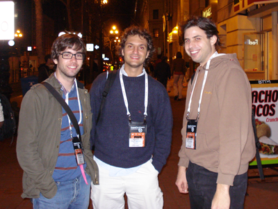 With Augusto Petrone (Three Melons) and Sebastian Enrique (EA). Two great talents of Argentine Game Development.